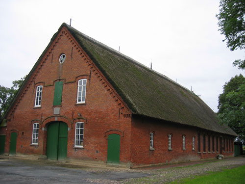 Brick Farm House Between Sandstedt And Lehe Along The Weser River.