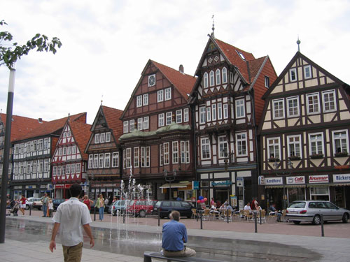 Half Timbered Town Houses In Celle