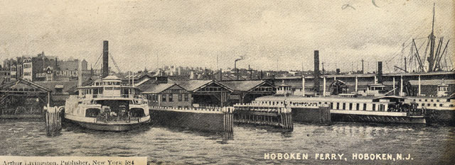 Hoboken Ferry And Train Station
